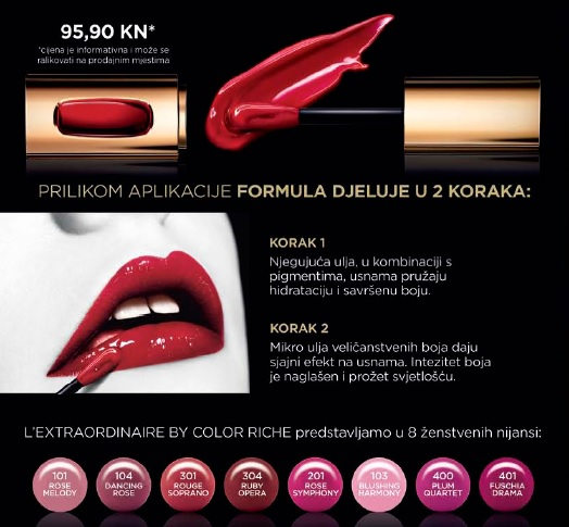 L'oreal L'Extraordinaire Liquid Lipstick by Color Riche cijena