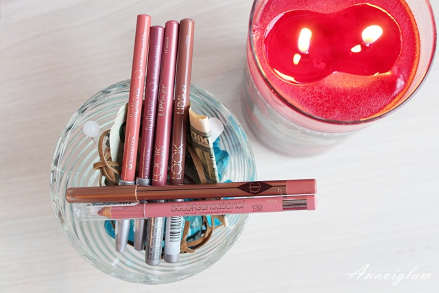 4 lip pencil Look By Bipa Essence Charlotte Tilbury Maybelline New York
