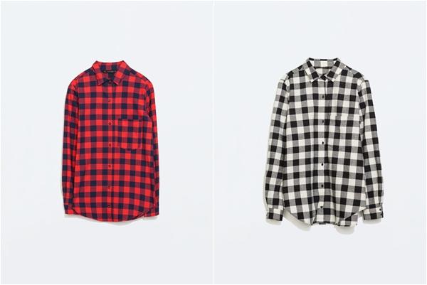 Zara Crvena i siva Zara košulja 2