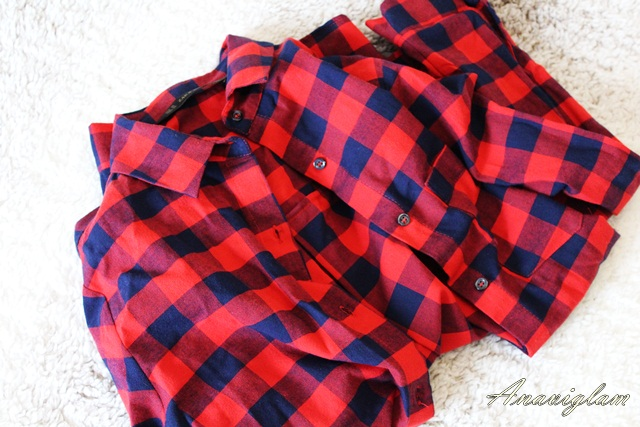 Zara Crvena i siva Zara košulja