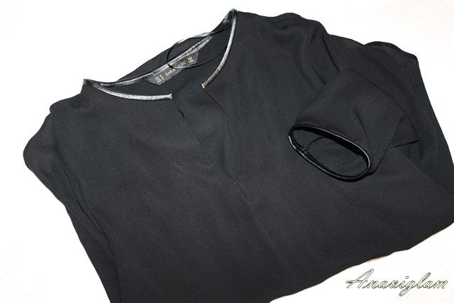 Zara svila crna košulja