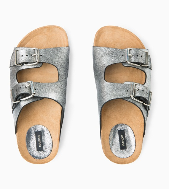 Mango BUCKLE LEATHER SANDALS