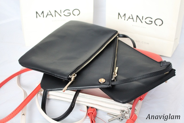 Mango Cross-Body Triple Bag 4