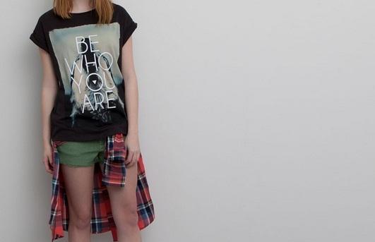 Pull&Bear slogan t-shirt