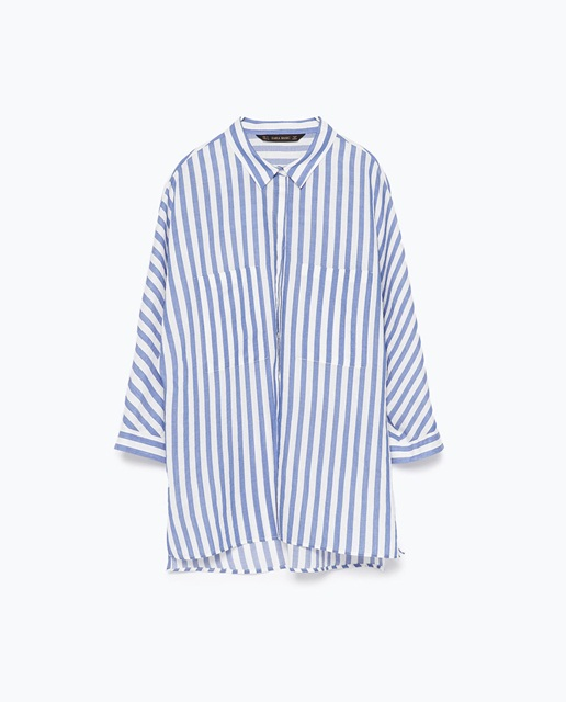 Zara Striped shirt with kimono sleeves