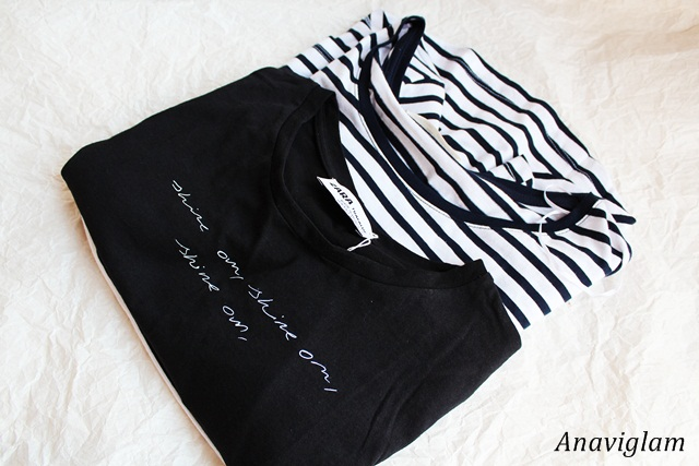 Zara Text print t-shirt 1