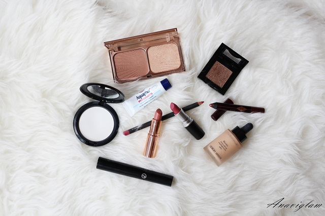 1 makeup favourites Charlotte Tilbury Bobbi Brown MAC Gioargio Armani Eucerin