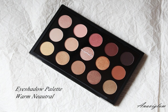 16 mac warm eyeshadow palette