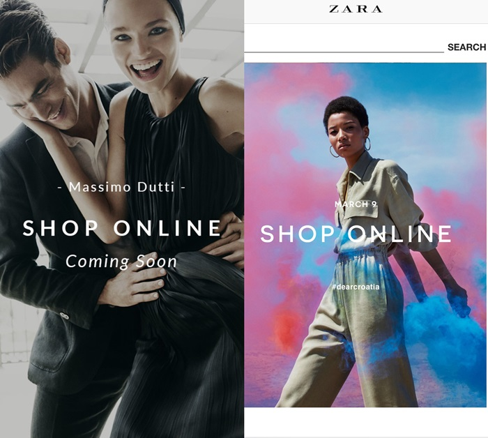 Zara, Pull&Bear, Massimo Dutti, Bershka, Stradivarius, Oysho, Zara Home, Uterqüe online shopping Croatia