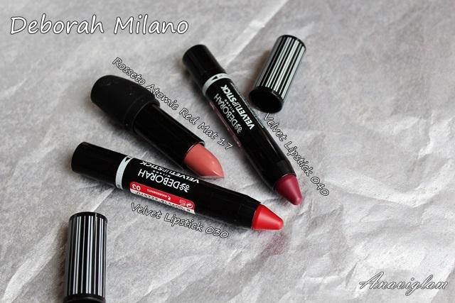Deborah Milano Mat 17 lipstick Velvet Lipstick 03 04