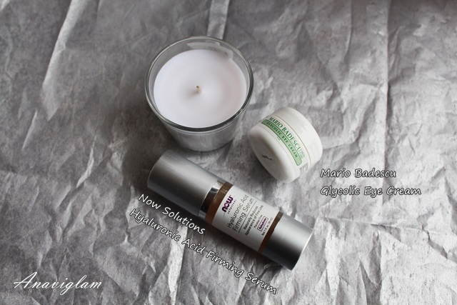 Hyaluronic Acid Firming Serum and Mario badescu Glycolic Eye Cream