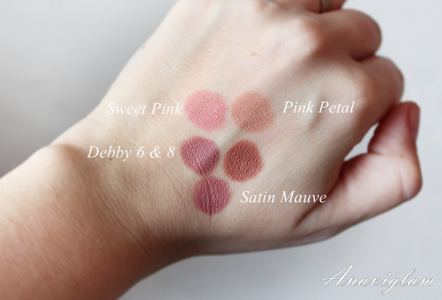 Nude lip pencil swatches