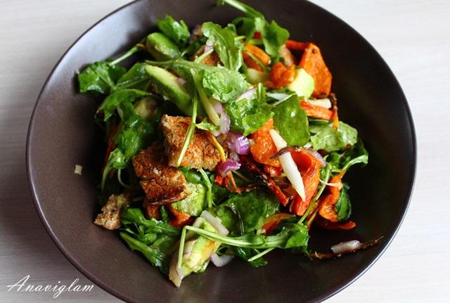 Toplo hladna jesenska salata