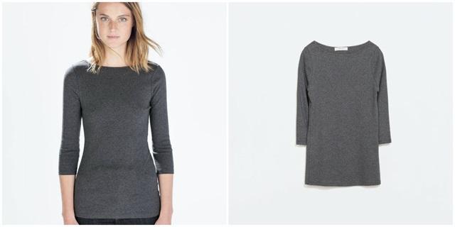 Zara siva majica