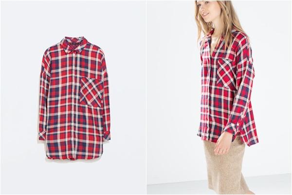 Zara crvena košulja
