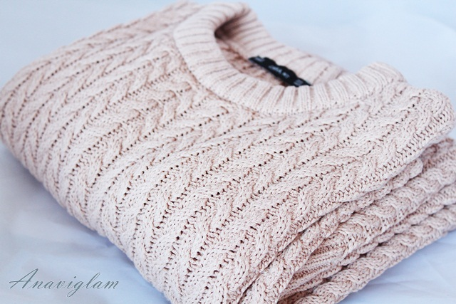 Zara Cable knit sweater blog