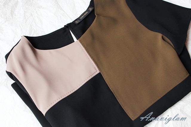 Zara Color Block Top blog