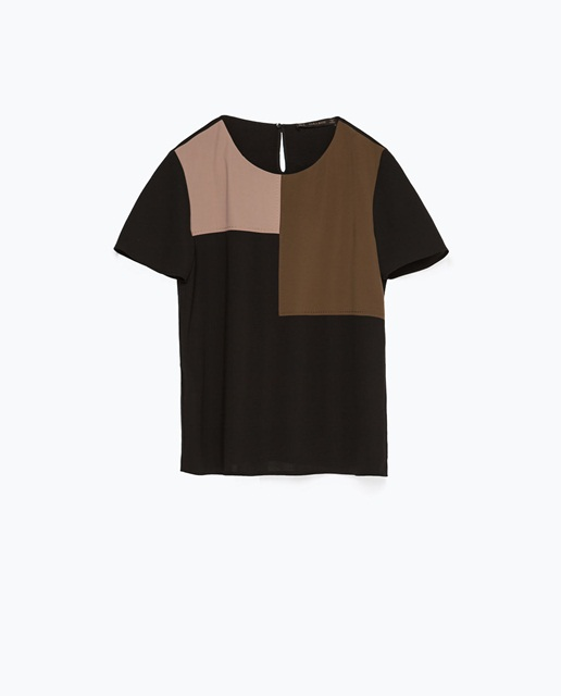 Zara Color Block Top