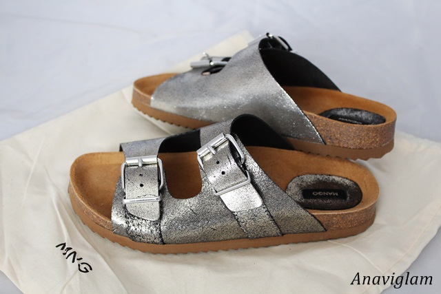 Mango BUCKLE LEATHER SANDALS 1
