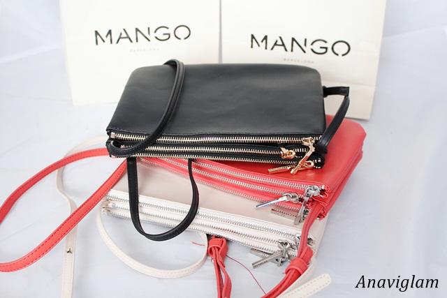Mango Cross-Body Triple Bag 1