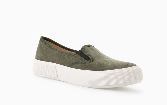 Mango FAUX LEATHER SNEAKERS