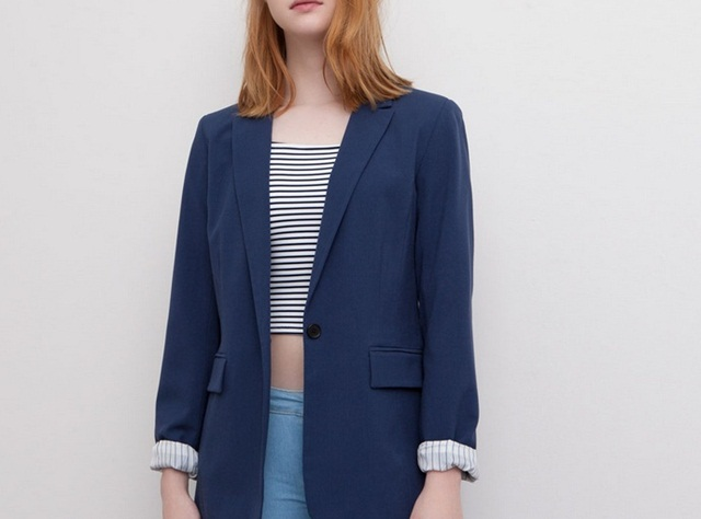 Pull&Bear Striped Lined Sports Jacket
