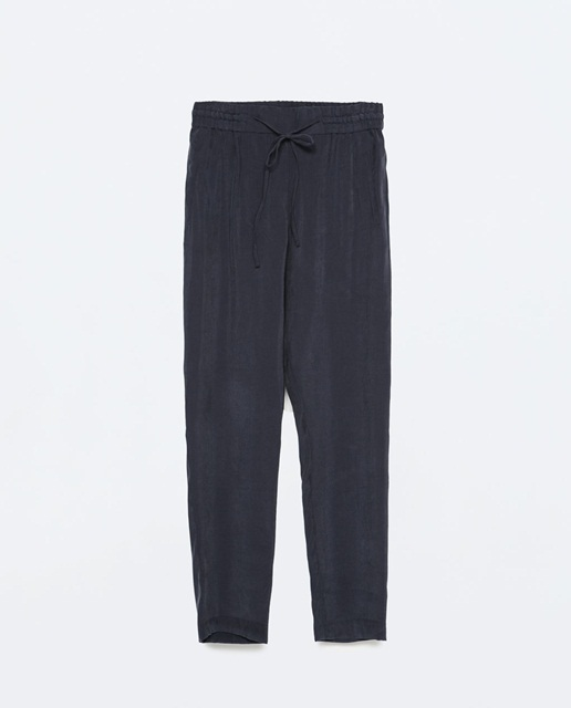 Zara Loose fit trousers with elastic waistband
