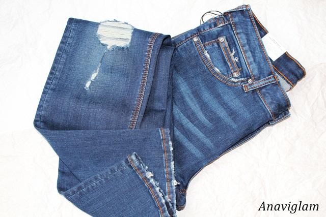 Zara Modal superskinny distressed jeans 1
