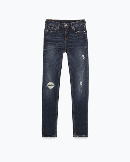 Zara Modal superskinny distressed jeans