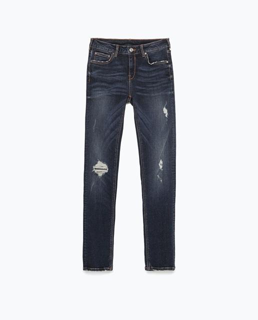 Zara Modal superskinny distressed jeans