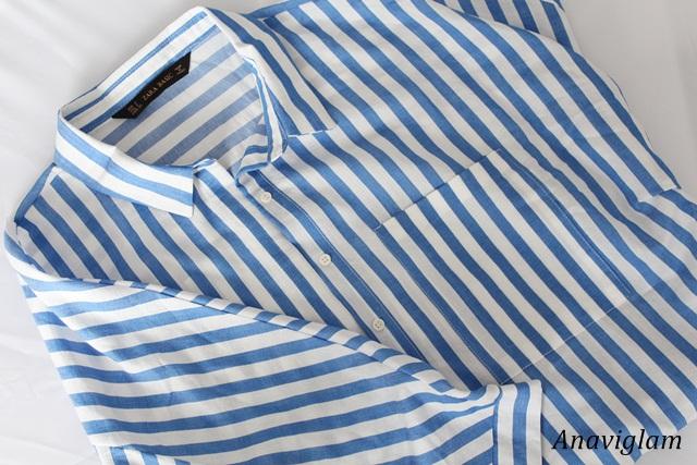 Zara Striped shirt with kimono sleeves 1
