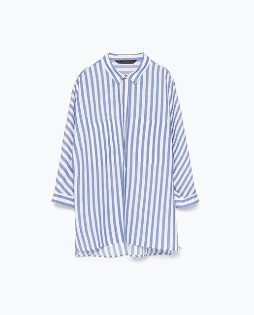 Zara Striped shirt with kimono sleeves