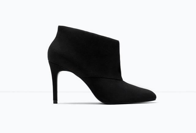 Zara Suede high-heel ankle boot