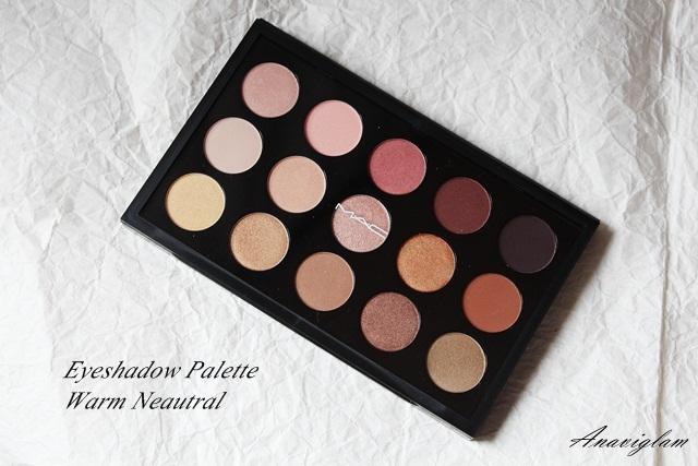 16 mac warm eyeshadow palette