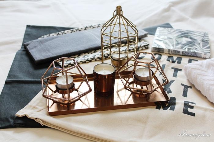 H&M home copper gold
