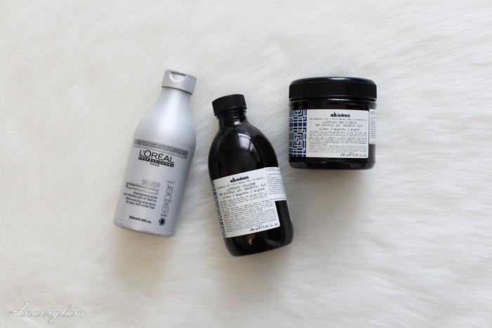 12 L'Oreal & davines silver šampon i maska