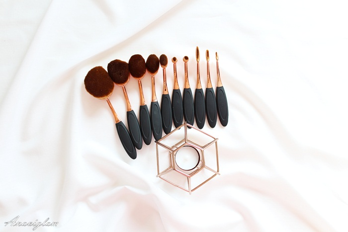 ebay oval brushes rose gold